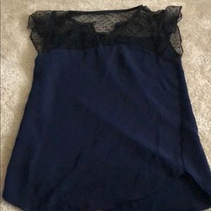 J crew short sleeve lace blouse